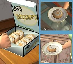 Mod The Sims - Loops Doughnuts: Vanilla Glaze with Sprinnkles