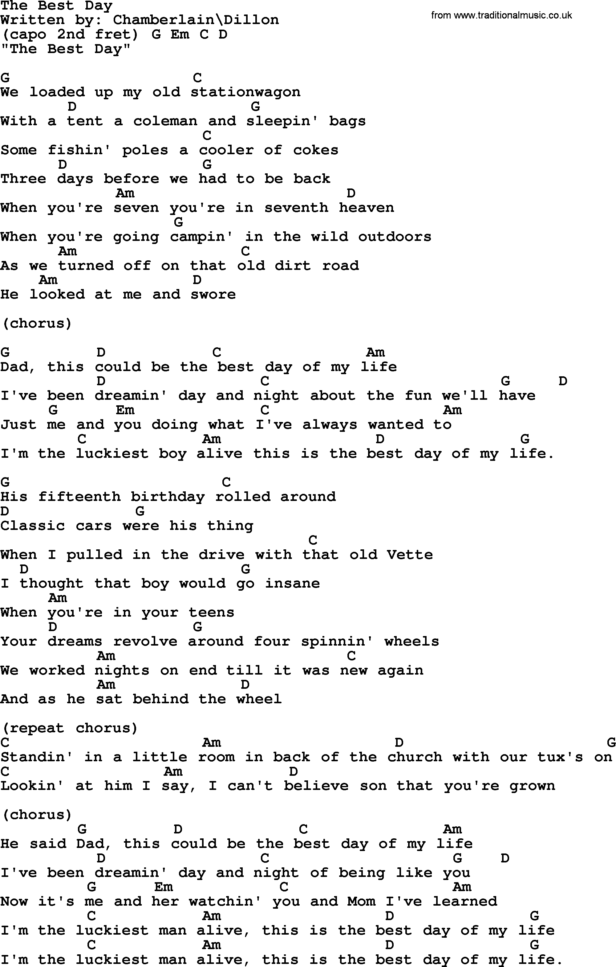 George strait song the best day lyrics and chords ukulele george strait song the best day lyrics and chords hexwebz Gallery