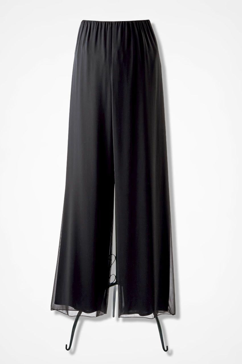 8138e98cd2dff3 Chiffon Soirée Pants - Coldwater Creek   Christmas Time   Dresses ...