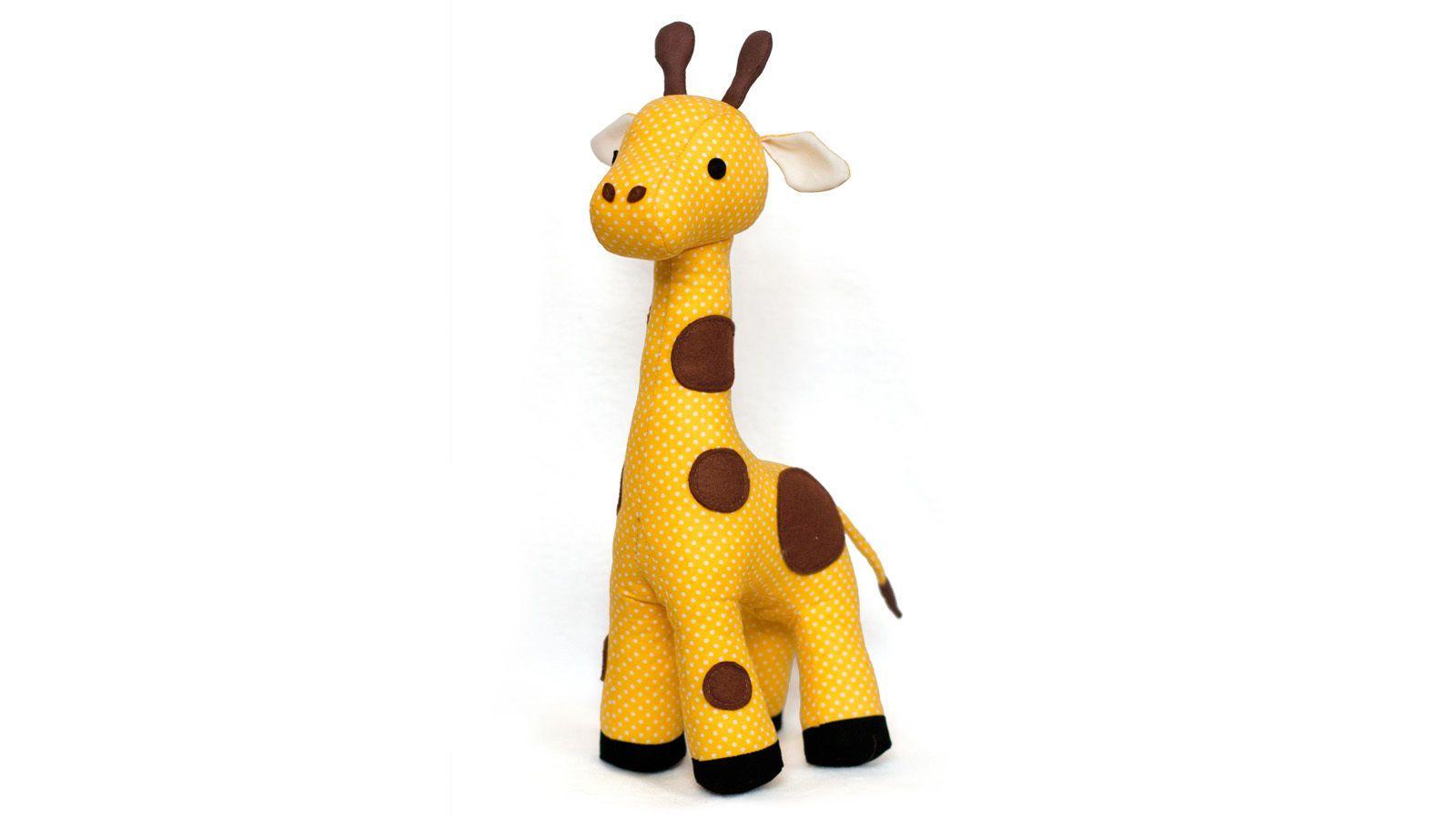 Nähanleitung und Schnittmuster Stofftier Giraffe | Stofftiere ...