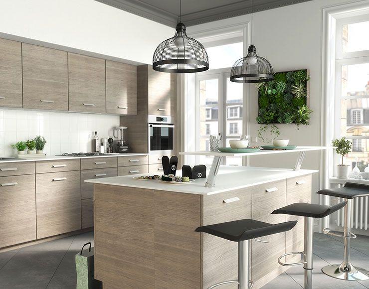 castorama cuisine unik ch ne clair une cuisine aux teintes naturelles et douces cuisines. Black Bedroom Furniture Sets. Home Design Ideas