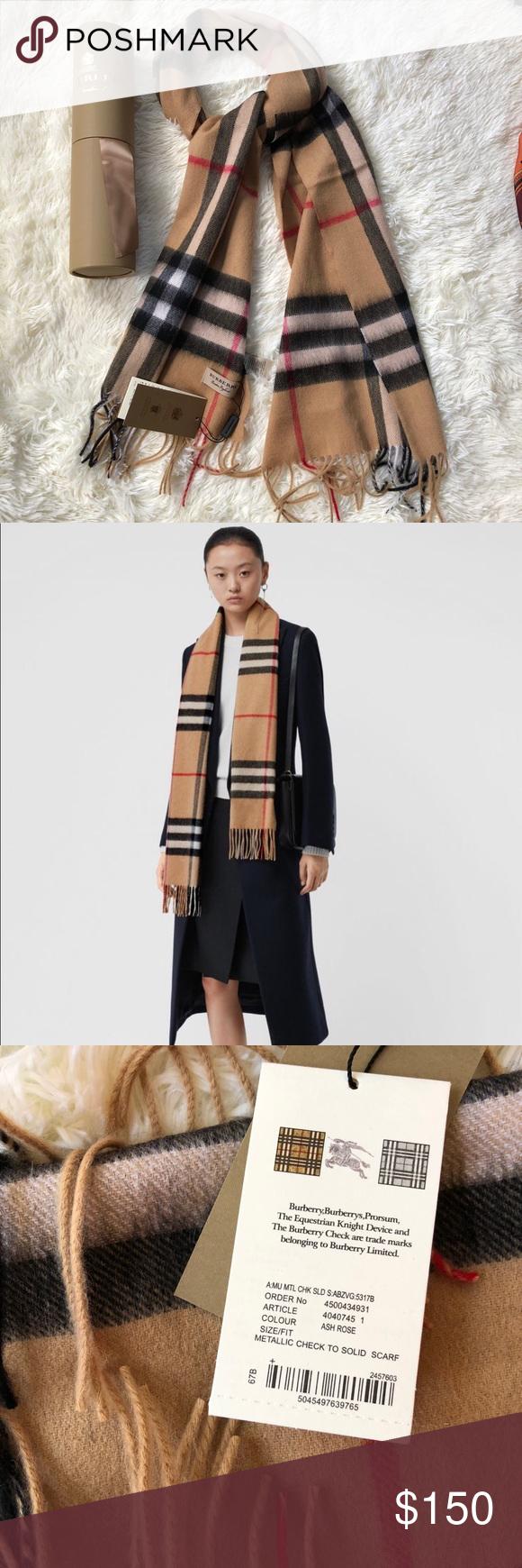 Burberry cashmere scarf Burberry cashmere scarf brand new