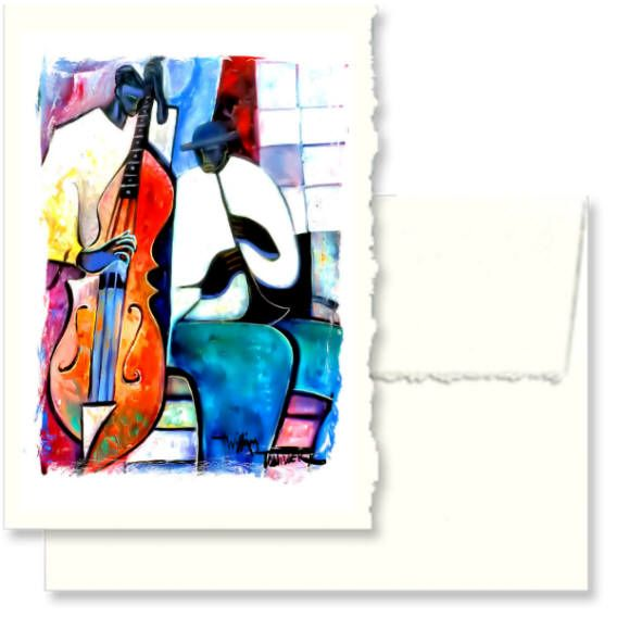 Jazz Duo Greeting Cards