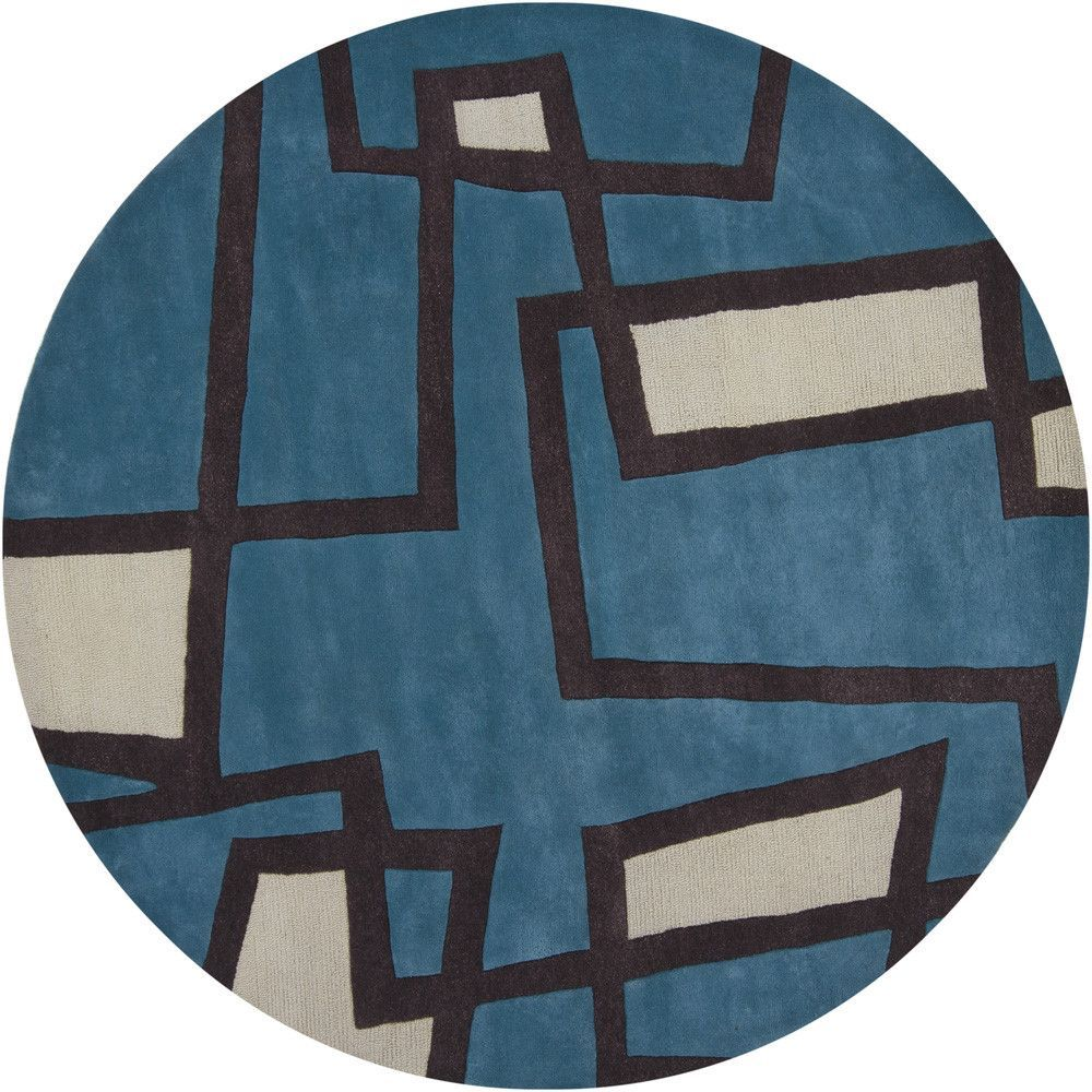 bense    patterned round contemporary area rug  - bense    patterned round contemporary area rug