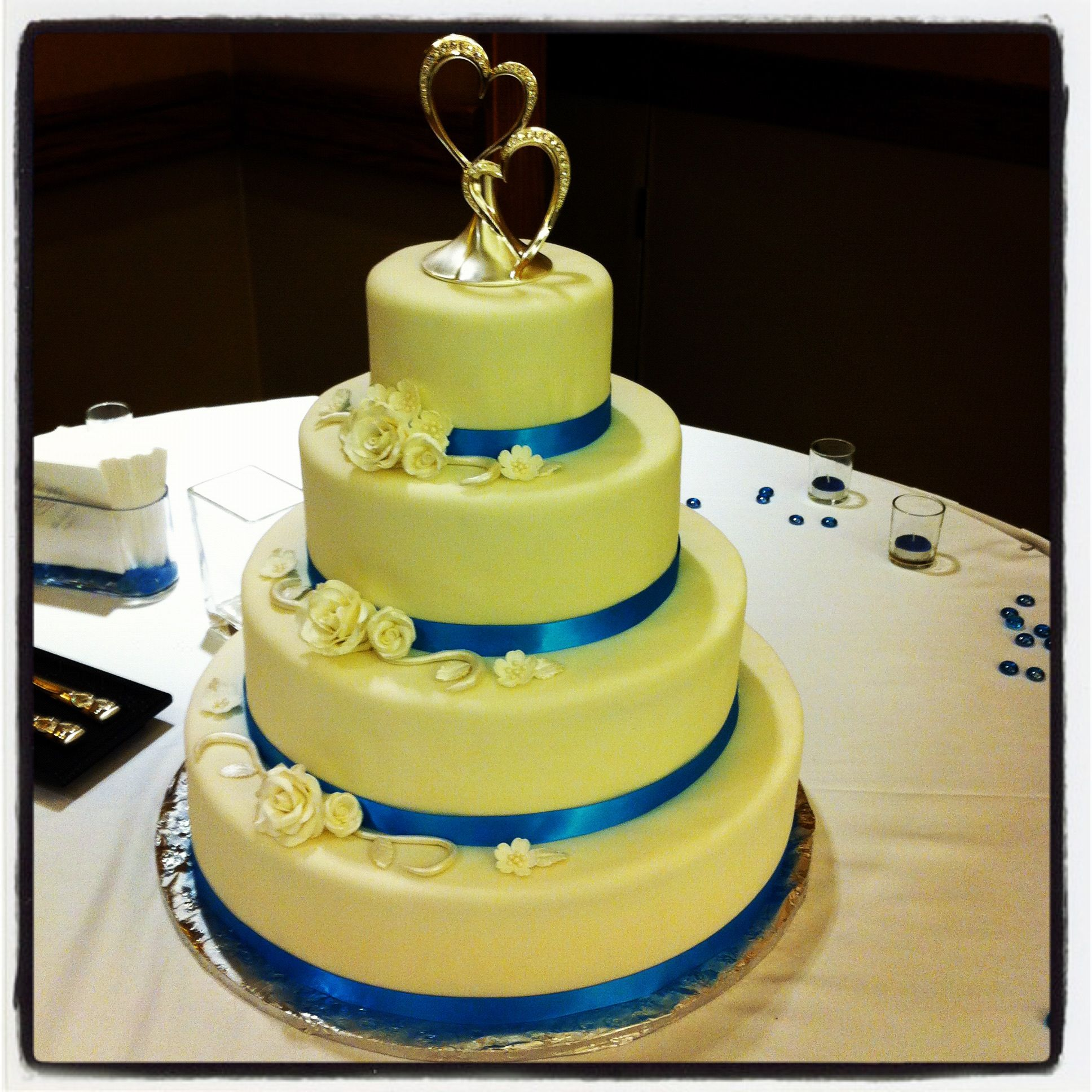 4 Tier Wedding Cake (18\