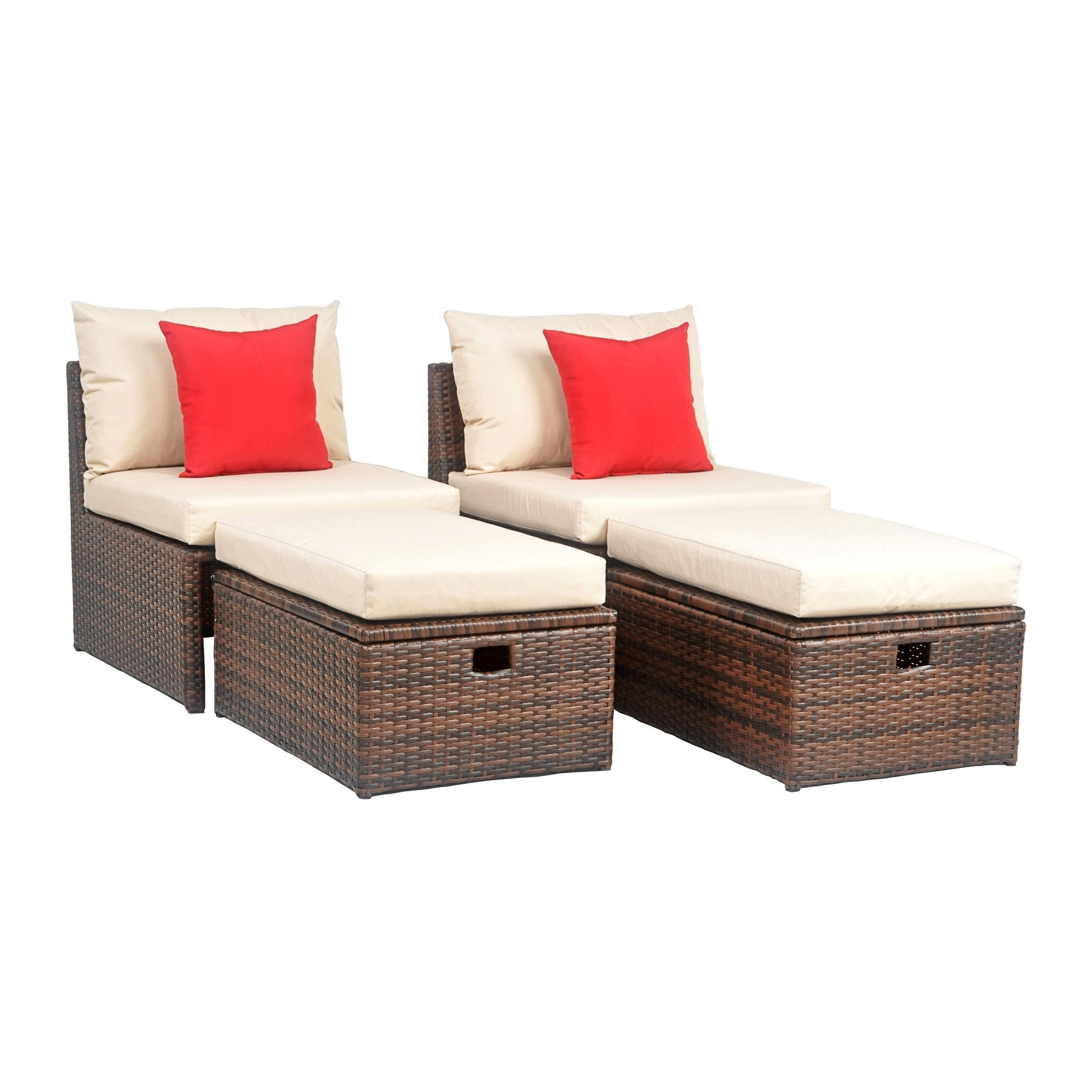 Cool Safavieh Telford Rattan Brown Tan Red Outdoor Sette And Machost Co Dining Chair Design Ideas Machostcouk