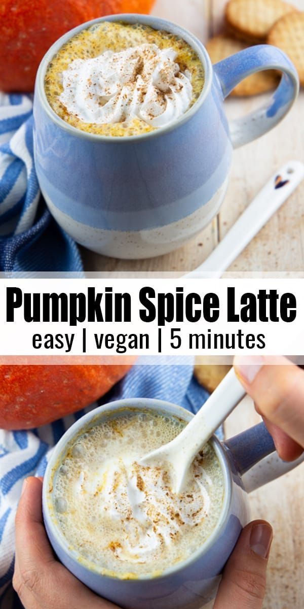 This Pumpkin Spice Latte Is The Perfect Treat For A Chilly Fall Day It S Super Creamy Vegan And It S Great T In 2020 Delicious Vegan Recipes Vegan Recipes Easy Food