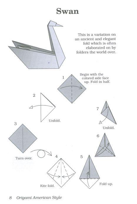 swan origami neato stuff pinterest origami swans