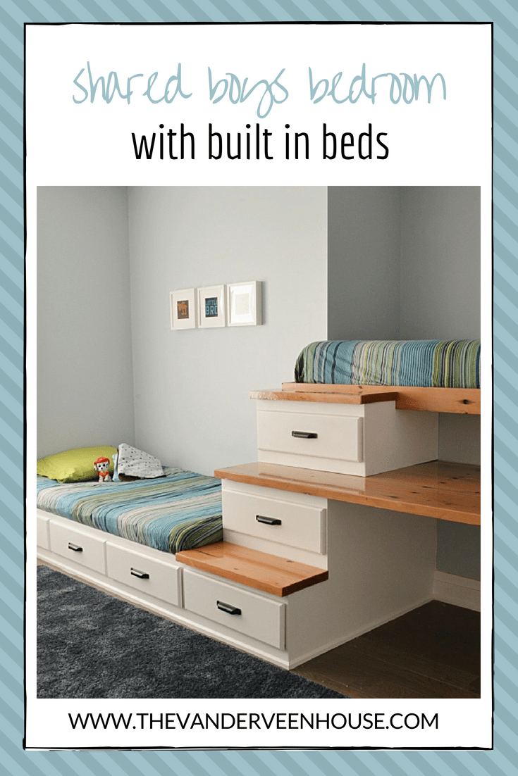 How to make a built in bed with storage #boys