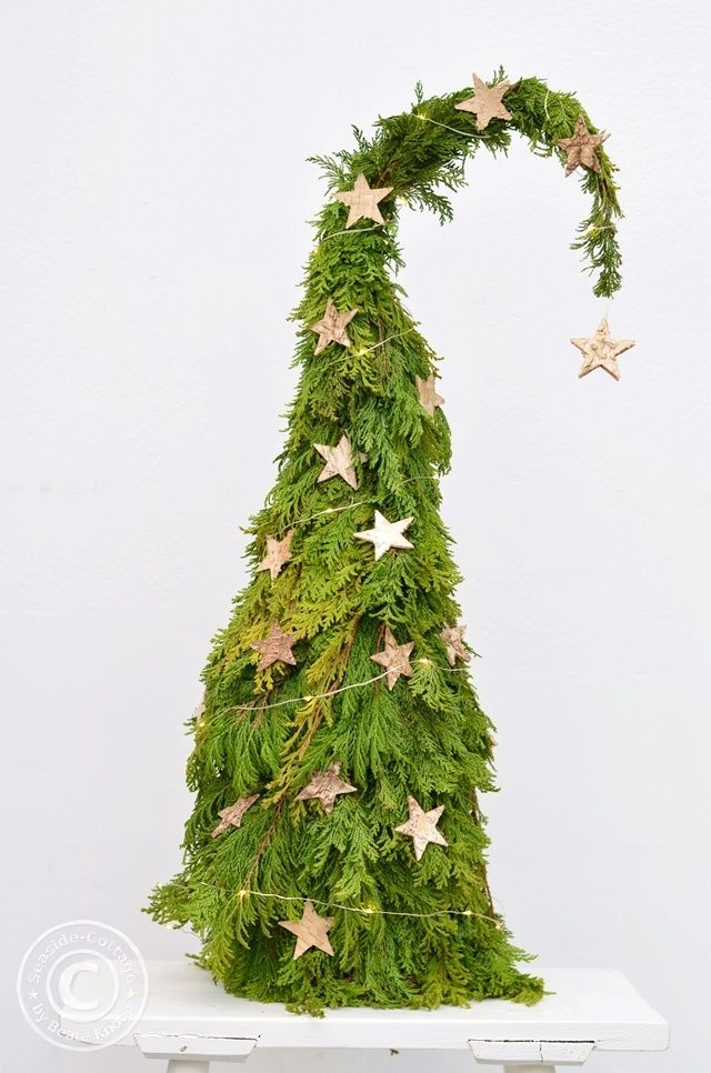 DIY Weihnachtsdeko - Tannenbäumchen oder Wichtelmütze #weihnachtsdekohauseingangaussen