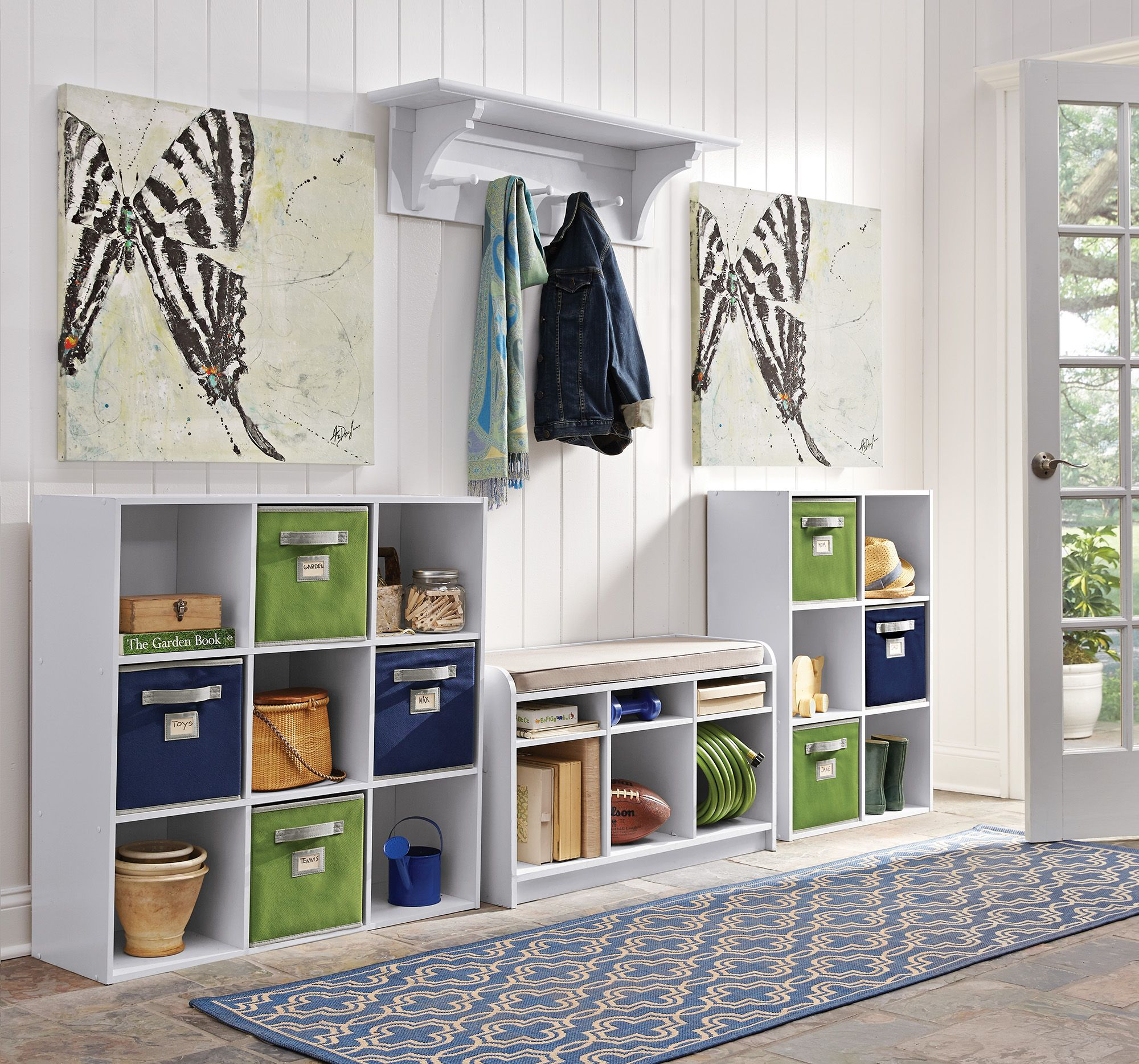 Make sure the mudroom is less of a mess with cube organizers and ...