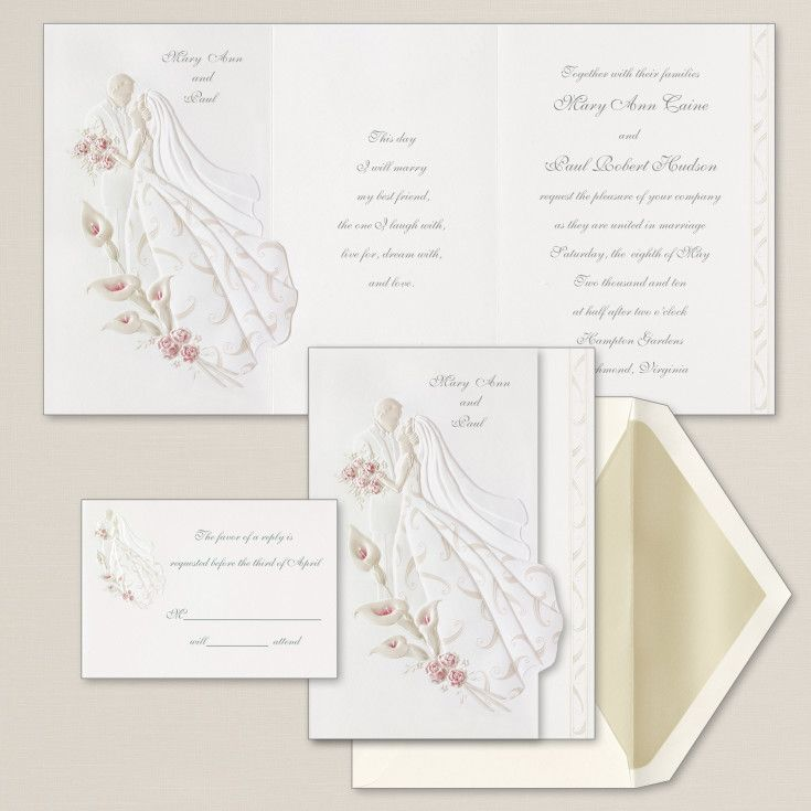Exclusively Weddings First Dance Wedding Invitation Is An Embossed This Romantic Embracing Couple