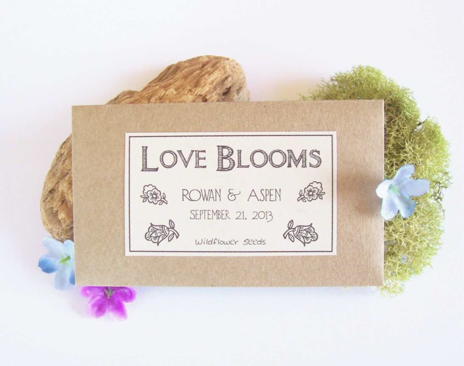50 Garden Bridal Shower Favors Flower Seed by fairylandbazaar ...