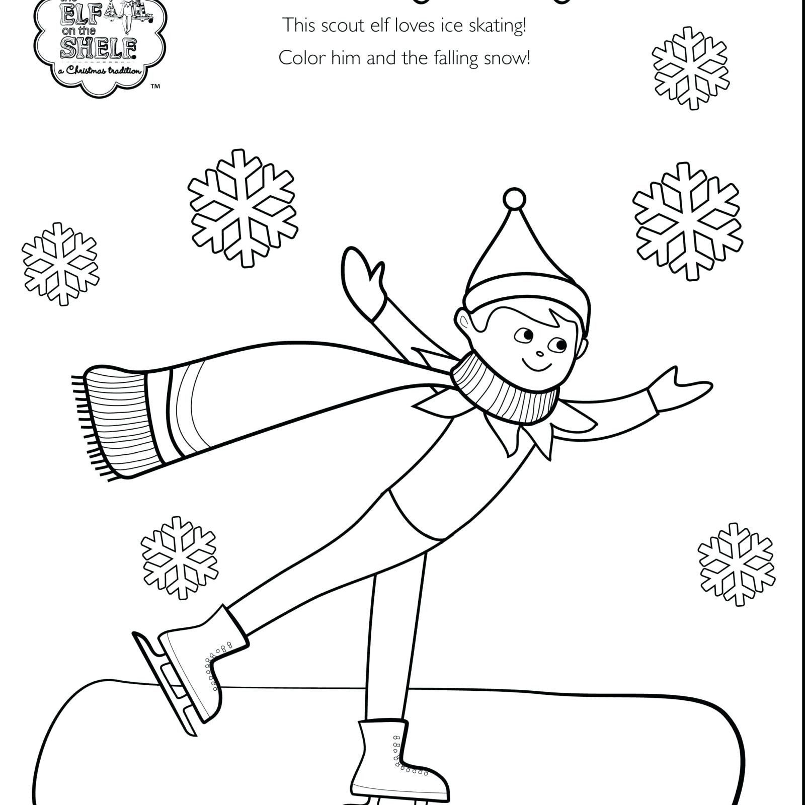 Elf On the Shelf Coloring Pages Beautiful Elf On A Shelf Coloring