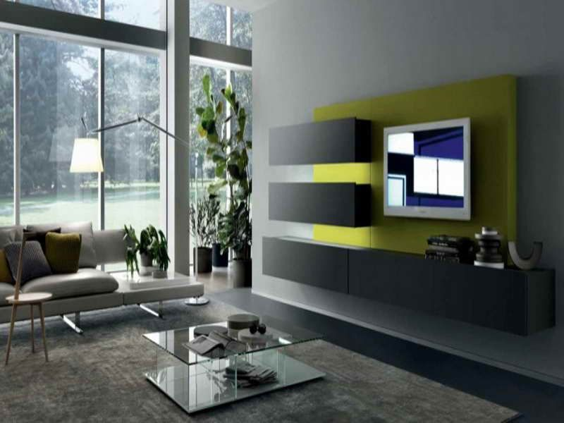 Wall Mounted Television Decorating Ideas | Modern TV Room ...
