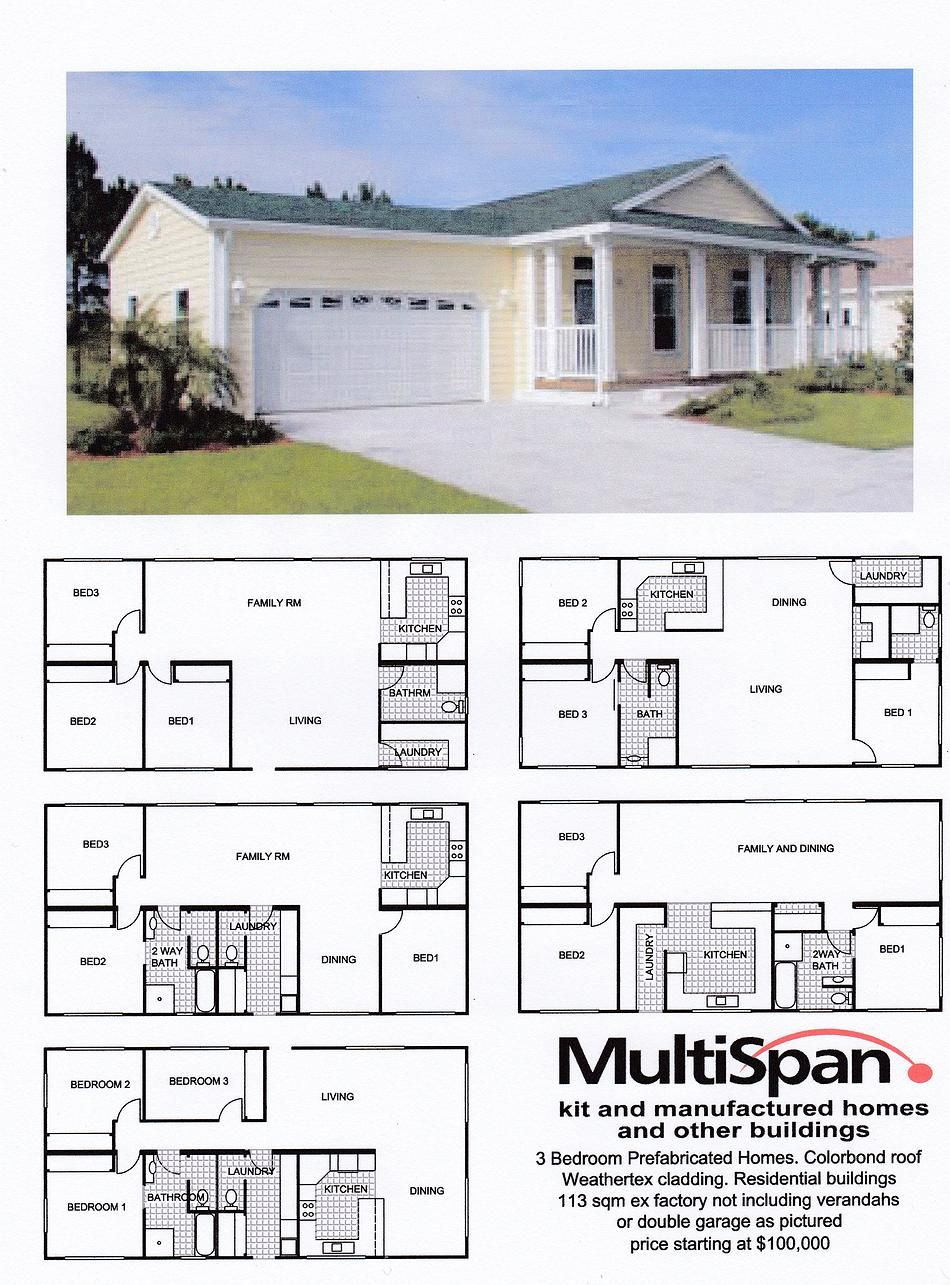 3 Bedroom Prefabricated Homes Prefabricated Houses Dream House Plans House Plans