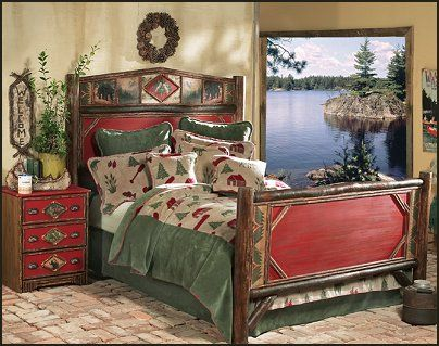 Lake Theme Home Decor Cabin Furniture Decorating Rustic Camping Hunting