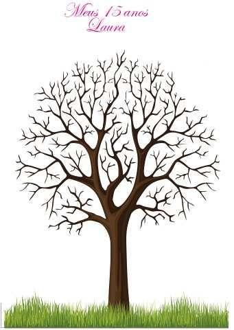 árvore de digitais 40x60 frete grátis/moldura/carimbeira)