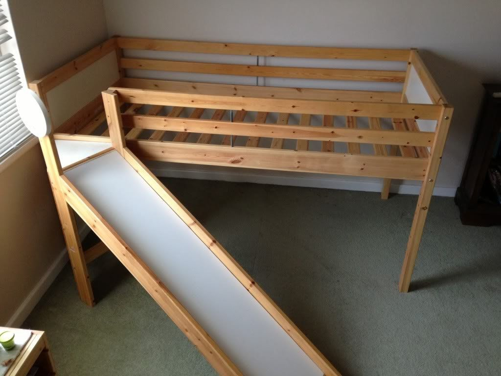 Ikea Vradal Loft Bed Slide Instruction Home Full Size Metal Loft Bed