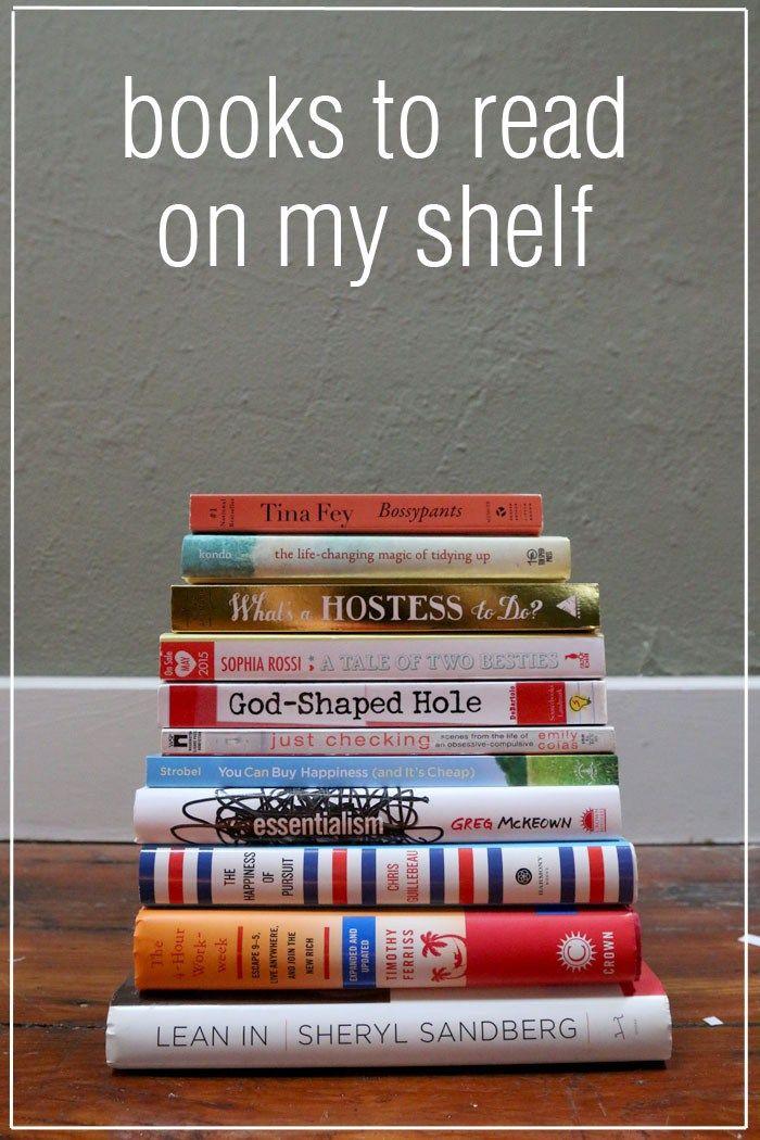 Books to read on my shelf via Chrystina Noel