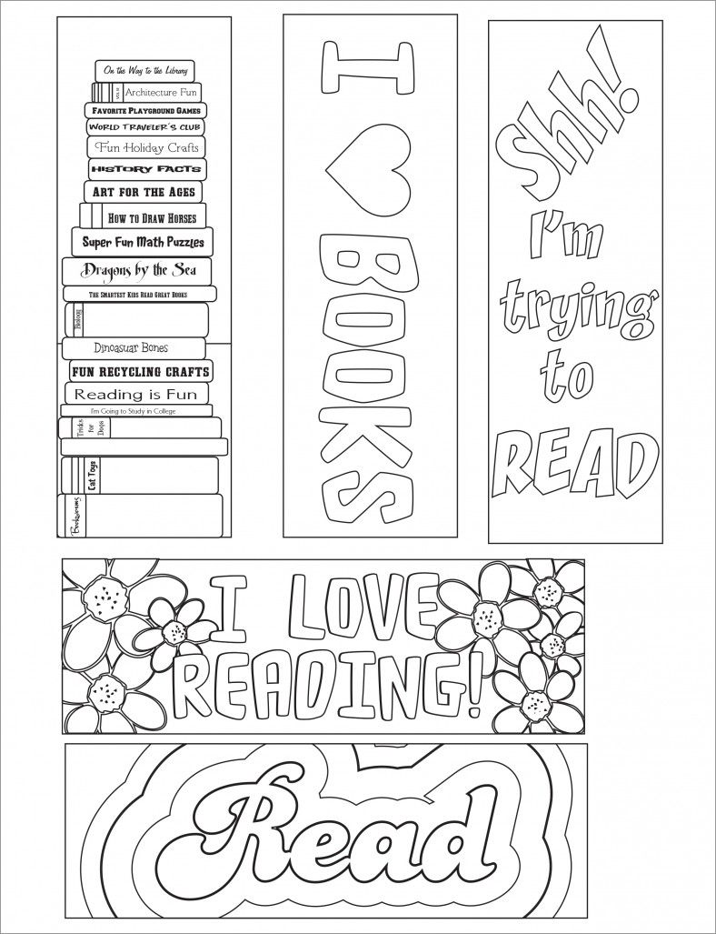 printable bookmarks to color great to give students on the first
