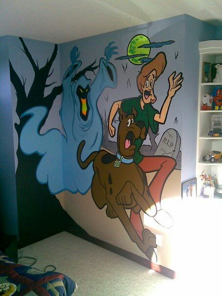 Glow on the dark scooby doo mural | glow murals | Pinterest | Snoopy