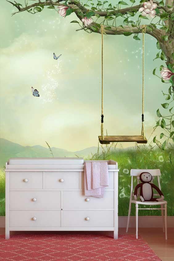 Vlies fotobehang sprookjeswereld behang kinderkamer en for Behang kinderkamer