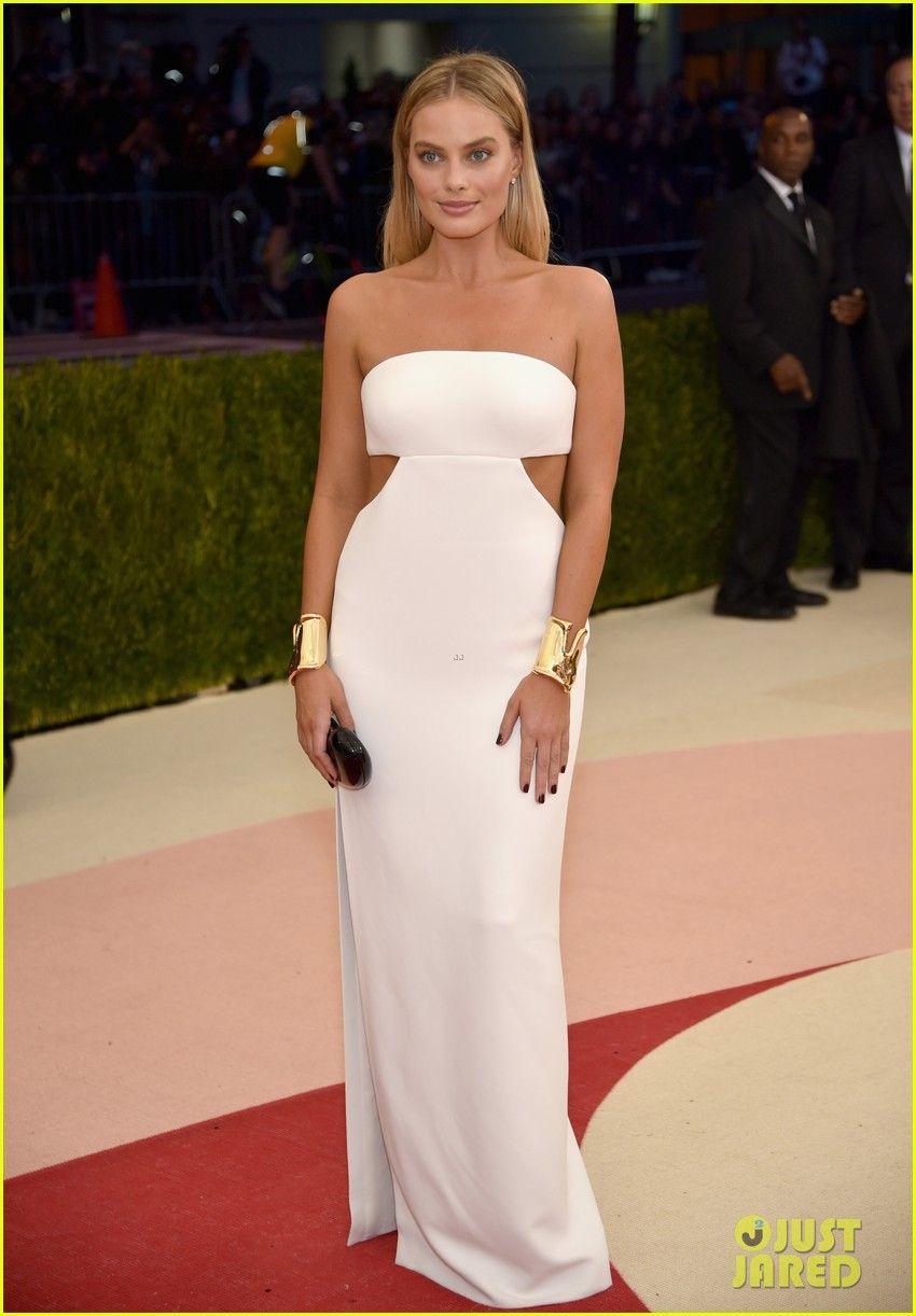 Margot robbie stuns in white cutout dress at met gala margot