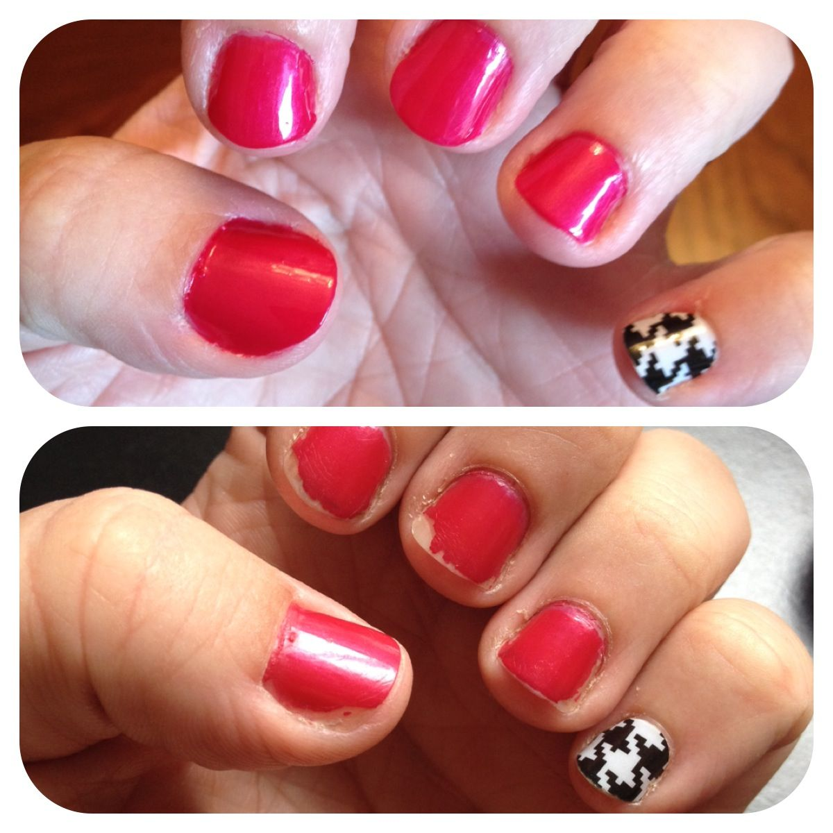 My 7 day challenge...Jamberry wrap vs. OPI nail polish. The top ...