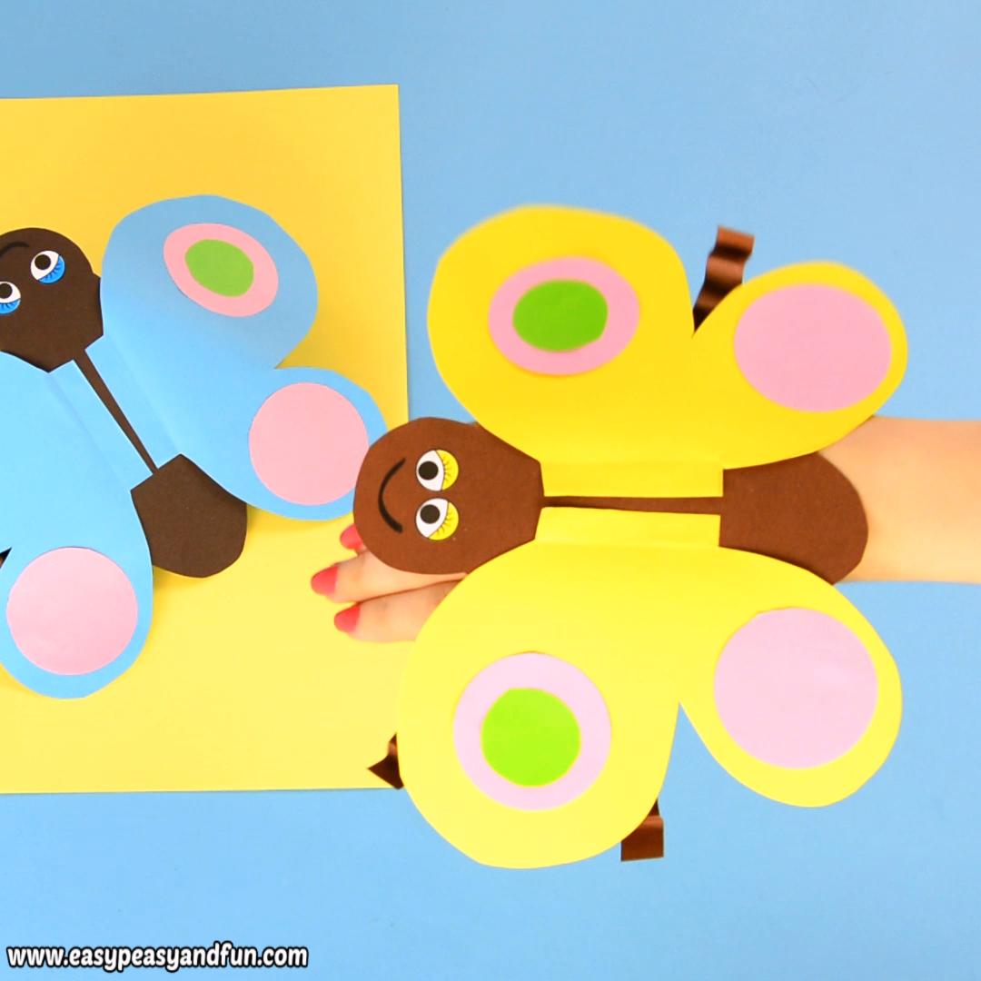 Butterfly Paper Hand Puppet #handpuppets