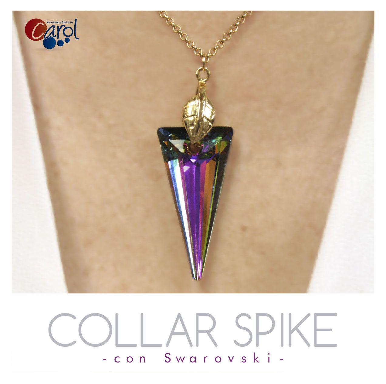 8c975c1ee92d ¡Hermoso collar! Pocos materiales para un fabuloso collar con  Swarovski