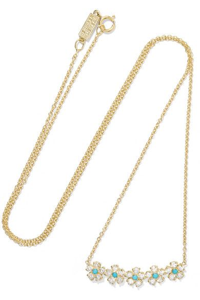 Jennifer Meyer 18-karat Gold, Diamond And Turquoise Necklace