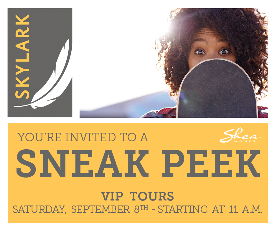 Take a VIP Tour at Skylark on September 8th!