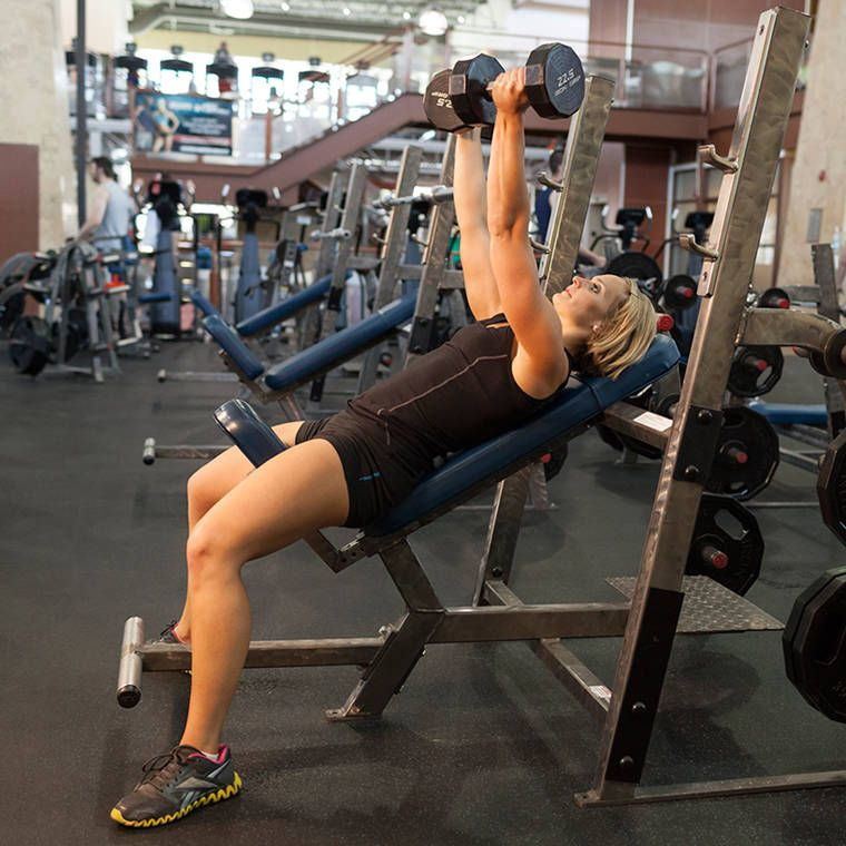 Incline Dumbbell Press Reverse Grip Workout Guide Dumbbell Press Dumbell Workout
