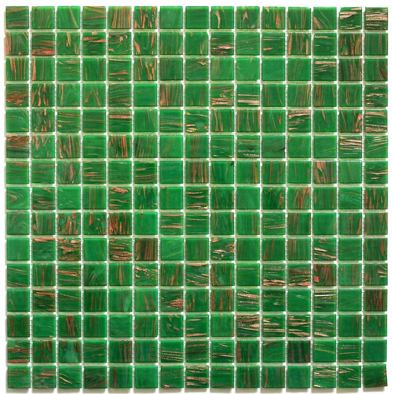 mosaique pate de verre pas cher vitro-vert 5,50 € https://carrelage