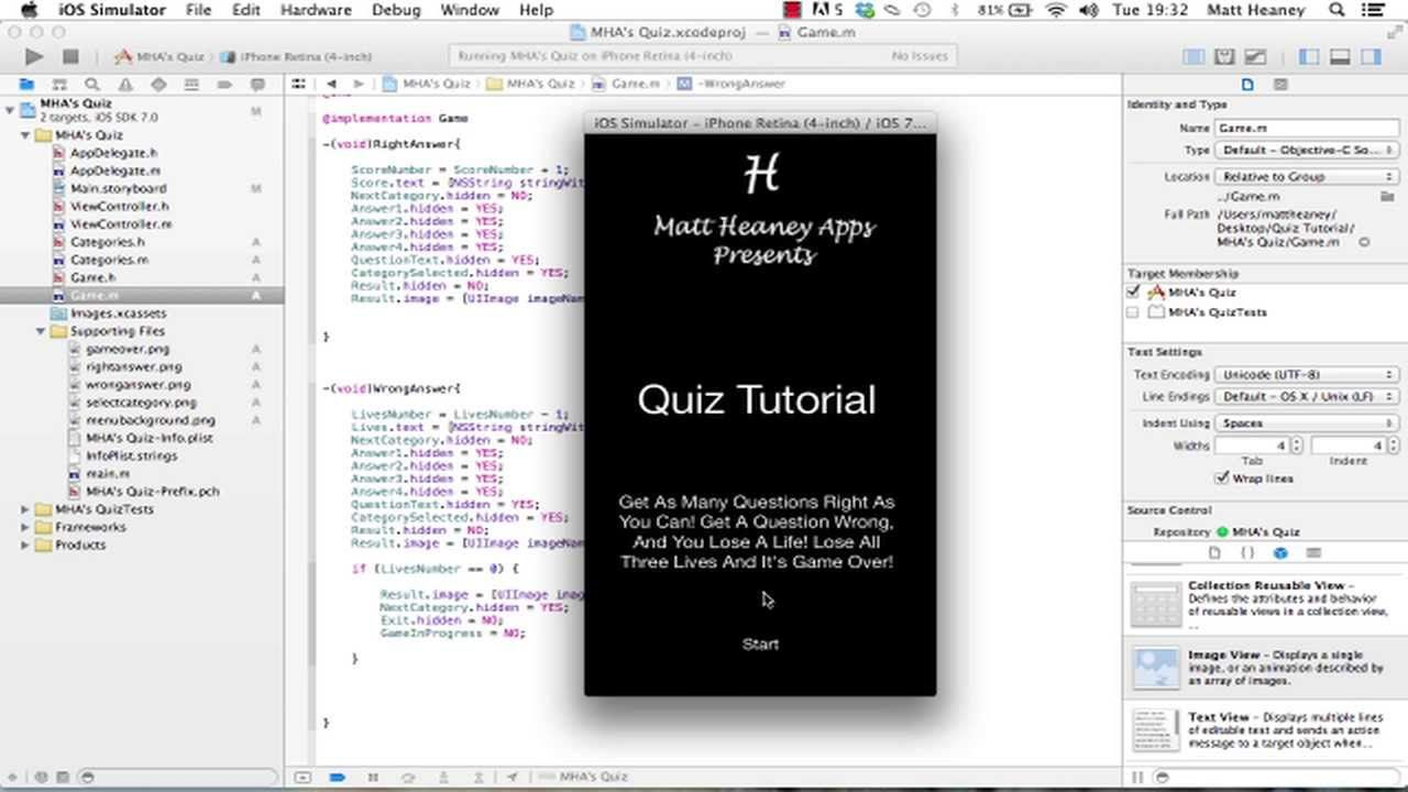 Part 3/3 - Quiz - Make A Full iPhone App in Xcode 5