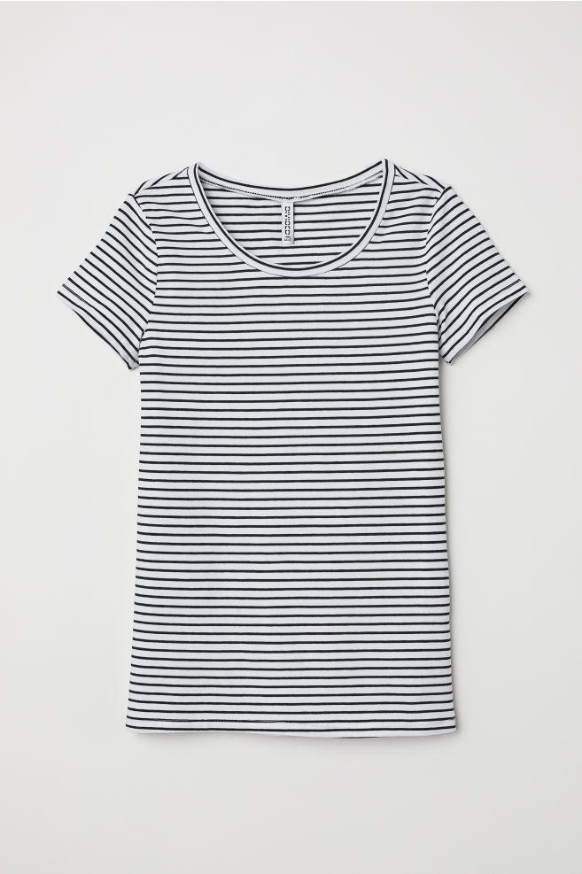 785d60f1dc3 H&M T-shirt - White in 2019 | ♡Wishes♡ | T shirt, H&m tshirts, Fashion