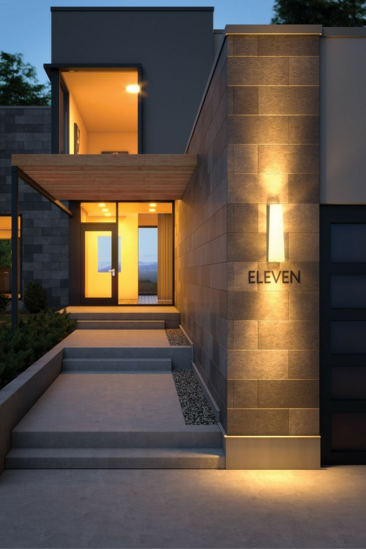 Contemporary architectural geometry manifests in the ... on Modern Outdoor Sconce Lights id=84821