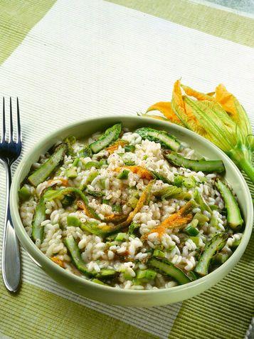 risotto con verdure di primavera
