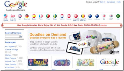 Search For Your Favourite Google Doodles and Order