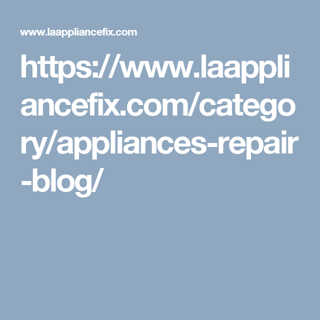 call us For appliance repair and service