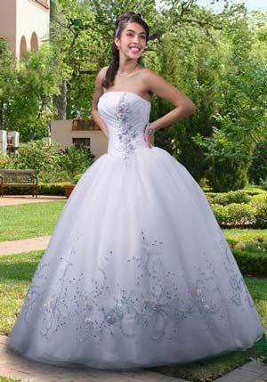 b82925340 vestidos de 15 años blancos - Buscar con Google