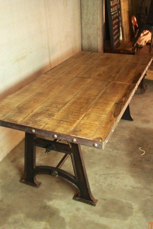 table de salle à manger industrielle extensible | tables