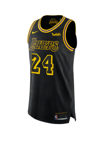 Los Angeles Lakers Kobe Bryant 24 City Edition Authentic Jersey Lakers Kobe Bryant Kobe Bryant 24 Los Angeles Lakers