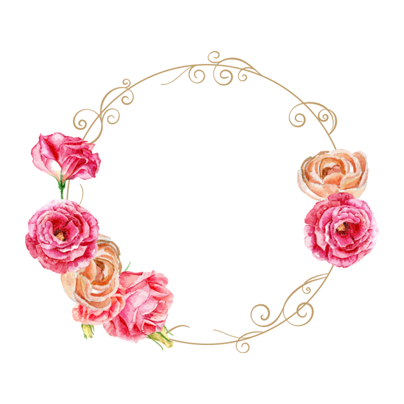 Rosette Rose Wreath Flowers Png And Vector With Transparent Background For Free Download Floral Wreaths Illustration Flower Frame Flower Bag