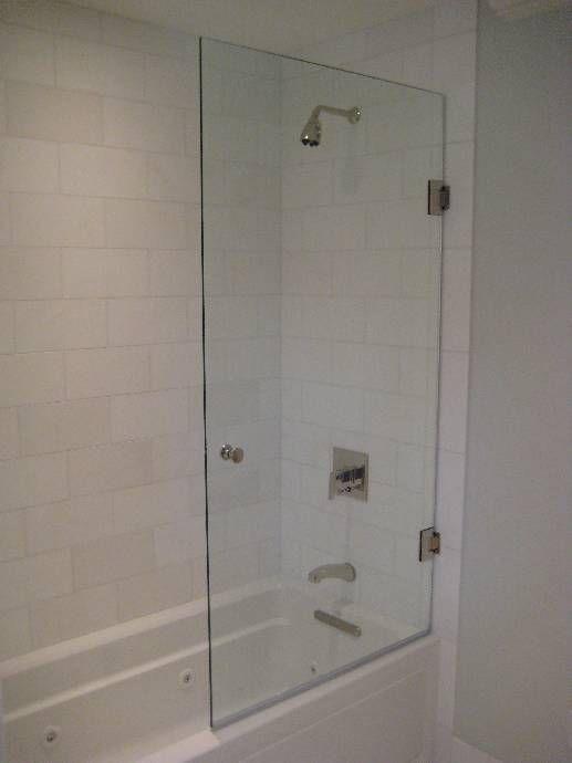 Half Glass Door Shower Doors Tub With Glass Door Glass Door