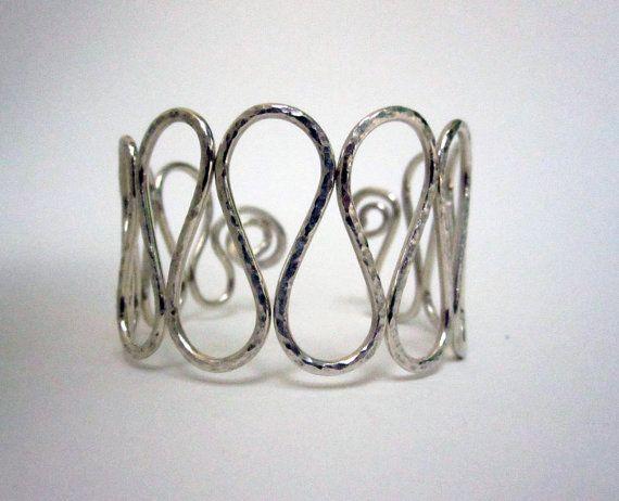 Silver Wave Cuff Bracelet
