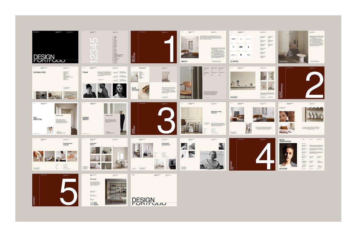 Neue portfolio and resume brochure design template