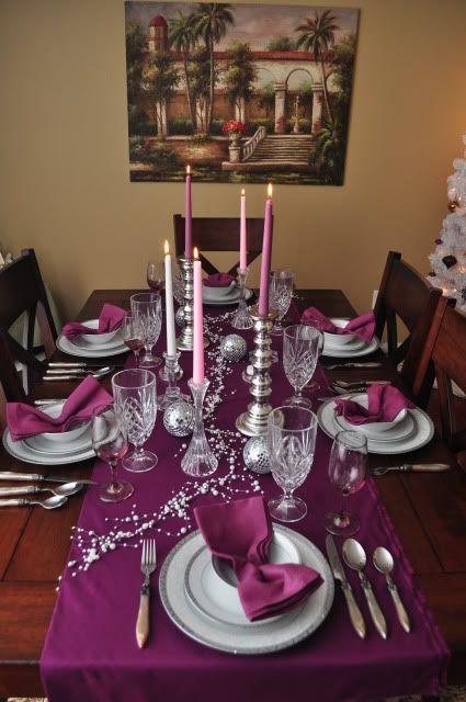 My Holiday Edition Copycat Entry Purple Christmas Decorations Christmas Table Settings Purple Christmas