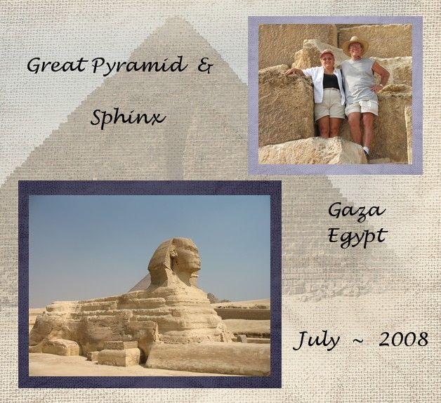003 Pyramid/Sphinx Egypt Travel scrapbook